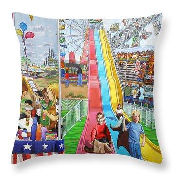 Hecksher Park Fair Throw Pillow