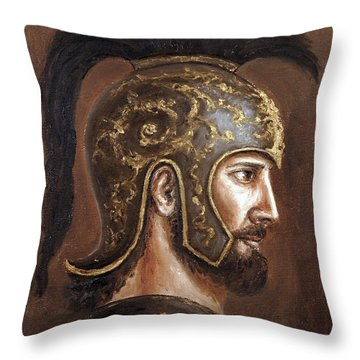 Throw Pillow featuring the painting Hector by Arturas Slapsys