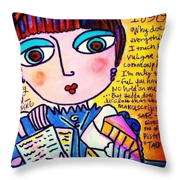 Hedda Gabler Throw Pillow
