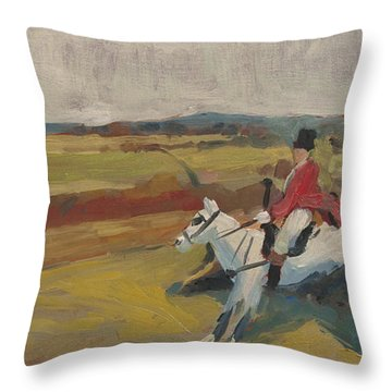 Hedge Hopping Britain Throw Pillow