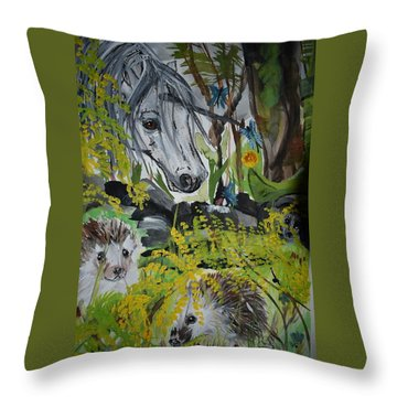 Hedgies Throw Pillow