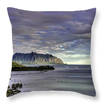 He'eia And Kualoa 2nd Crop Throw Pillow
