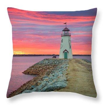 Hefner Sunset IIi Throw Pillow