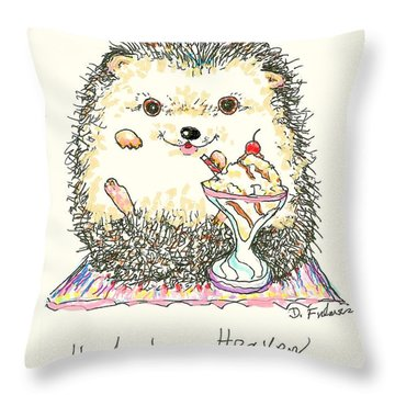 Hedgehog Heaven Throw Pillow