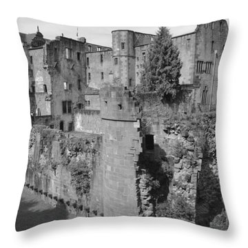 Throw Pillow featuring the photograph Heidelberg Castle Behind The Scenes by Corinne Rhode