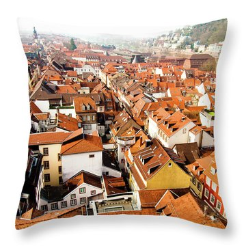 Heidelberg Cityscape Throw Pillow