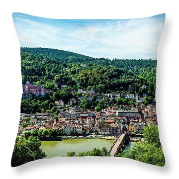 Throw Pillow featuring the photograph Heidelberg Germany by David Morefield