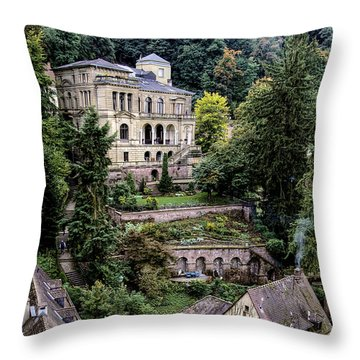 Throw Pillow featuring the photograph Heidelberg Hillside by Jim Hill