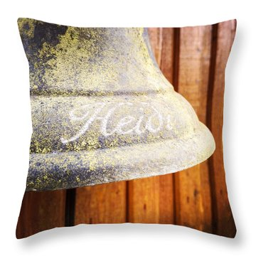 Heidi Bell Throw Pillow by Matthias Hauser