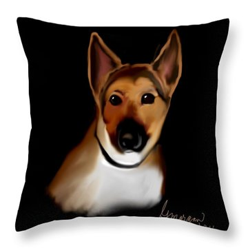 Heidi Girl Throw Pillow