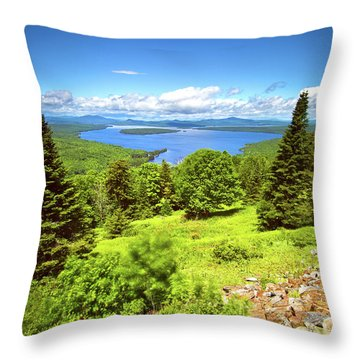 Height Of Land Throw Pillow
