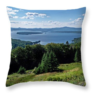 Height Of The Land Overlooking Mooselookmeguntic Lake Throw Pillow