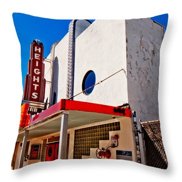 Heights Movie Theater Throw Pillow