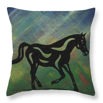 Heinrich - Abstract Horse Throw Pillow