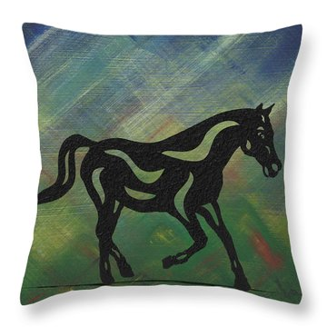 Heinrich - Abstract Horse Throw Pillow