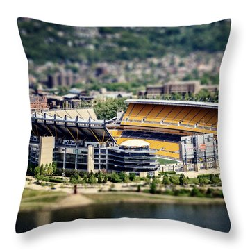 Heinz Field Pittsburgh Steelers Throw Pillow by Lisa Russo