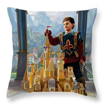 Throw Pillow featuring the painting Heir To The Kingdom by Greg Olsen