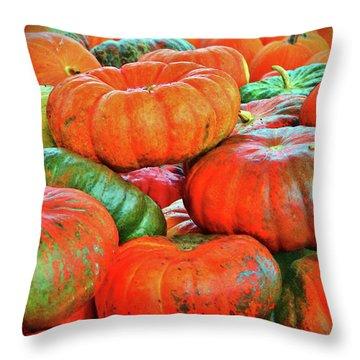 Heirloom Pumpkins Throw Pillow