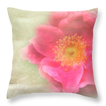 Heirloom Rose Throw Pillow