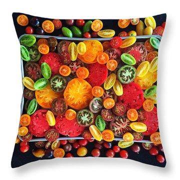 Heirloom Tomato Medley Throw Pillow