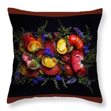 Heirloom Tomato Platter Throw Pillow