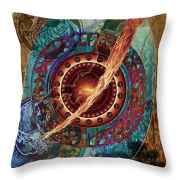 Throw Pillow featuring the digital art Hejira by Kenneth Armand Johnson