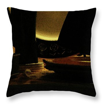Throw Pillow featuring the photograph Held In Quiet Reserve by Linda Shafer