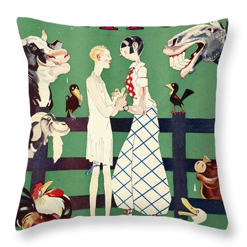 Held: Magazine Cover, 1926 Throw Pillow by Granger