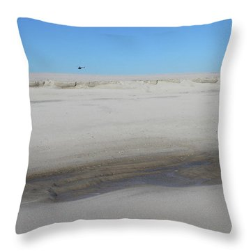 Helecopter Shirley New York Throw Pillow