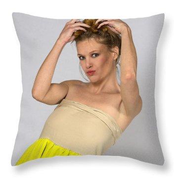 Helen In Party Dress Throw Pillow