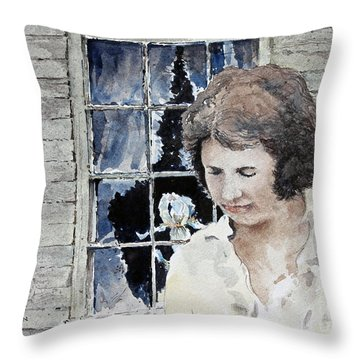 Helen Throw Pillow by Monte Toon