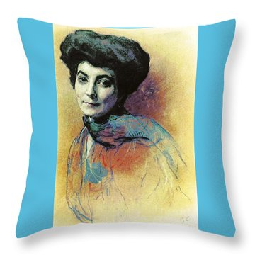 Helena Roerich Throw Pillow by Pg Reproductions
