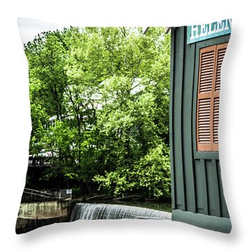 Throw Pillow featuring the photograph Helena Sign By Buck Creek by Parker Cunningham