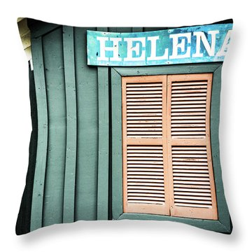 Throw Pillow featuring the photograph Helena Sign On A Spring Day by Parker Cunningham