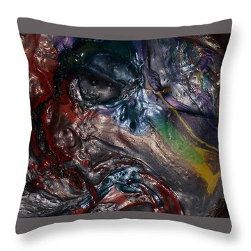 Helicopter Blade Smile Throw Pillow
