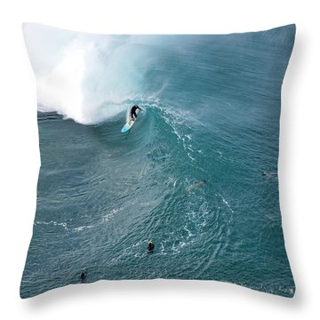Tubed From Above. Throw Pillow