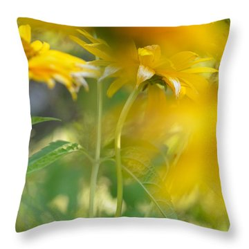 Heliopsis Blur Throw Pillow