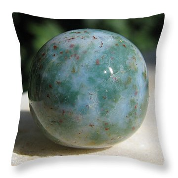 Heliotrope Sphere Throw Pillow by Andonis Katanos