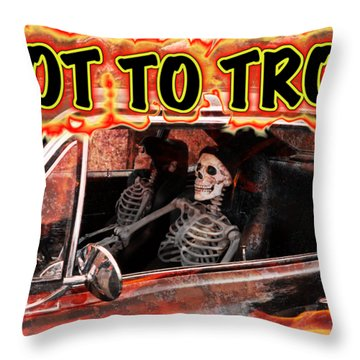 Hell Drive Throw Pillow