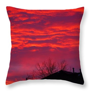 Throw Pillow featuring the photograph Hell Over Ontario by Valentino Visentini