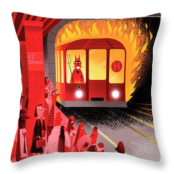 Hell Train Throw Pillow