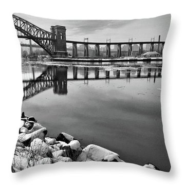 Hellgate Half Reflection Throw Pillow