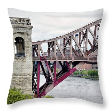 Hellgate In Grey Throw Pillow