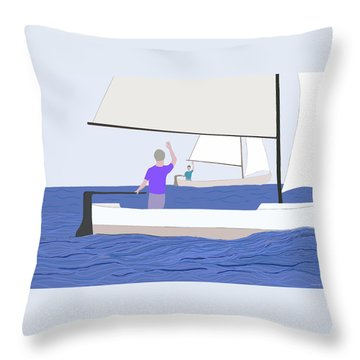 Hello Old Friend Throw Pillow by Fred Jinkins