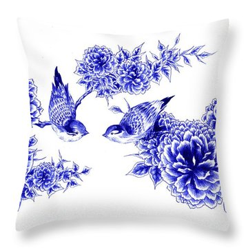 Hello And Good Morning Throw Pillow