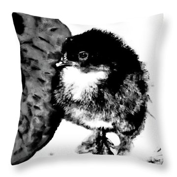 Hello Baby Chick Throw Pillow