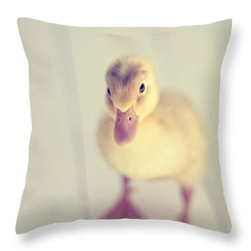 Hello Ducky Throw Pillow by Amy Tyler
