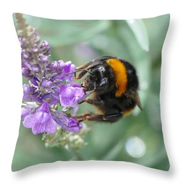 Hello Flower Throw Pillow