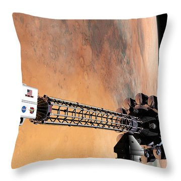 Hello, Huston From Hermes, Do You Read Me Throw Pillow