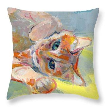 Hello Kitty Throw Pillow by Kimberly Santini